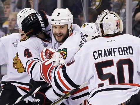 Blackhawks Defeat Bruins to Even Series