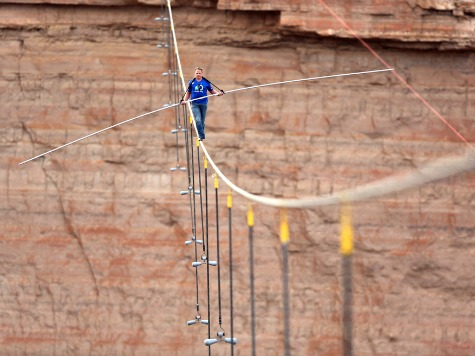 WATCH: Man Crosses Canyon on Tightrope