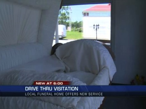 Funeral Home Offers Drive-Thru Viewing
