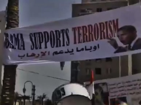 Egyptian Protesters: 'Obama Supports Terrorism'