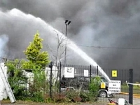 Huge Fire at British Recycling Plant