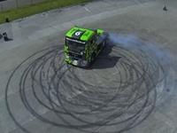 MUST WATCH: Racer Pulls Off Stunts, Drifts with Semi Truck