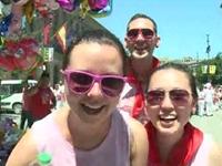 Revellers Kick Off Spain's Running of the Bulls