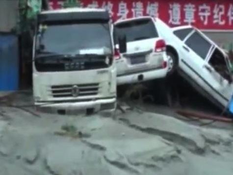 Flooding, Landslides Bury Dozens in China