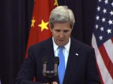 Tearful John Kerry Says Wife Improving