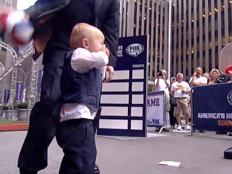 Toddler Catches Fox And Friends Host's Errant Pass With Face