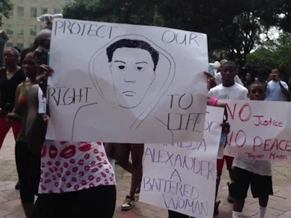 EXCLUSIVE: Zimmerman Protesters March In Jacksonville, FL