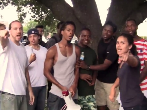 Protesters None Too Pleased to See Breitbart's Brandon Darby Covering Trayvon Rally