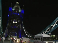 London's Tower Bridge Turns Blue for Royal Baby Boy