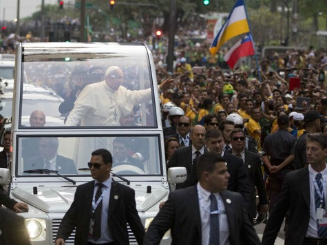 Brazilians Throng Streets to Greet Pope