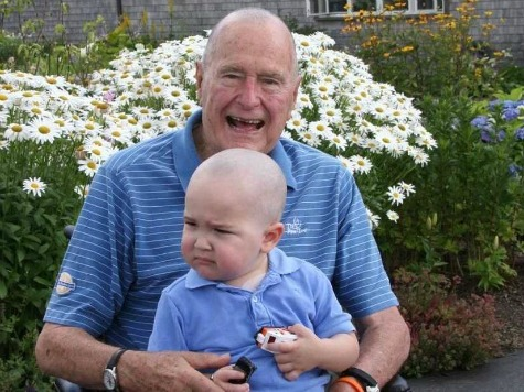 George H.W. Bush Shaves Head To Support 2-Year-Old Leukemia Patient