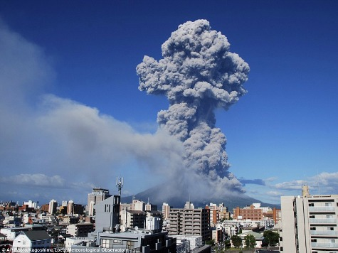 Japan Volcano Rains Ash on City