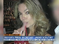 Filner Press Secretary Sips from Obscene Straw