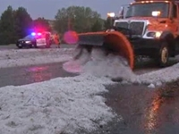 Colorado Hail Looks Like Late-Summer Snowstorm