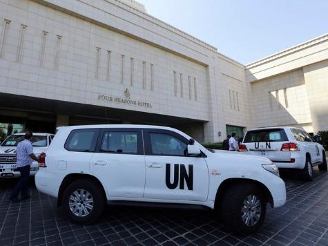 U.N. Inspectors Take Sniper Fire in Syria