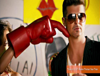 Robin Thicke's 'Give It 2 U' Video Features Miley Cyrus Foam Finger