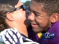 Soldier Dressed as Referee Surprises Son Before Game