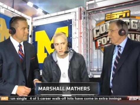 Eminem Acts Insane During ESPN Interview