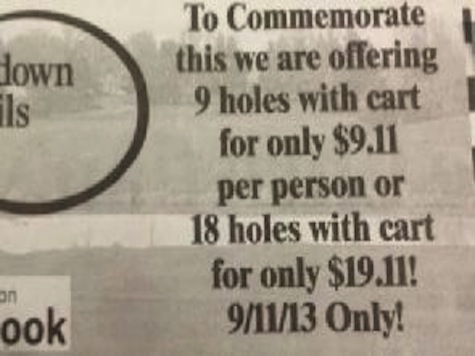 Golf Course Apologizes After Using Anniversary For Promotion