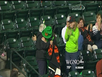Granny Catches Foul Ball