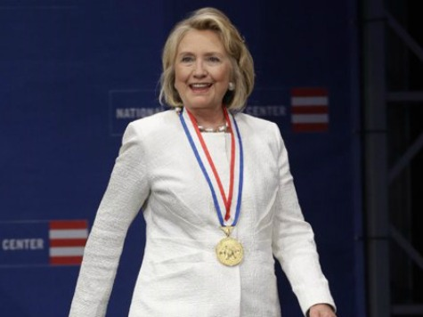 Hillary Clinton Addresses Syria at Liberty Medal Ceremony