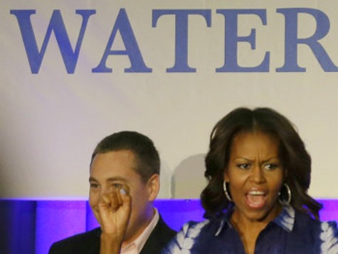 Michelle Obama Promotes Drinking Water in Watertown