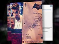 Justin Bieber Tweets Out Pic Of 'Batman Script'