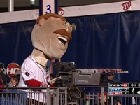 'Teddy' Takes Control Of Camera At Nationals Ballpark