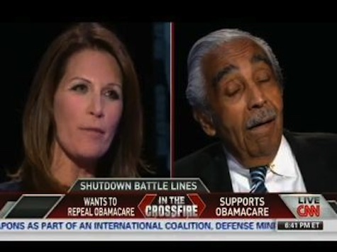 Bachmann, Rangel Have Heated Exchange Over Government Shutdown