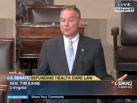 Sen. Tim Kaine: Obama's Reelection Means People Want Obamacare