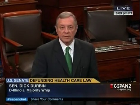 Durbin Asks If Cruz Understands How Many Votes Is Needed To Defund ObamaCare