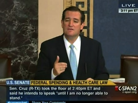 Cruz Vows To Speak Until 'I Am No Longer Able To Stand'