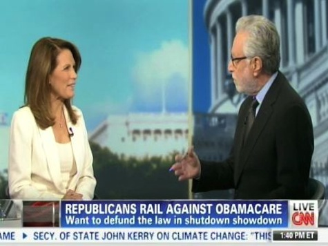 Bachmann, Blitzer Have Heated ObamaCare Debate