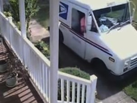 Postal Worker Caught on Tape Driving Across Front Lawn for Delivery