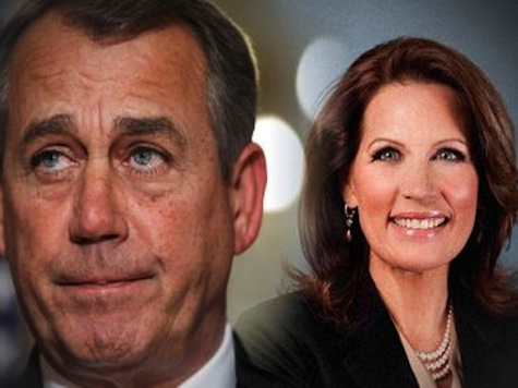 Bachmann Backs Boehner