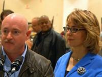 Giffords Visits NY Gun Show