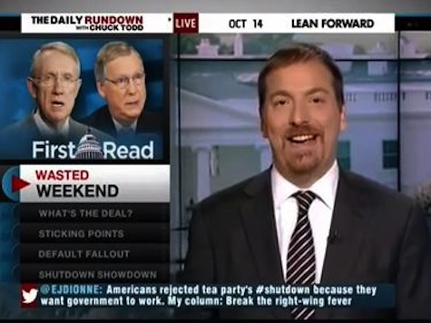 Chuck Todd Laughs At Cruz, Blames For GOP Woes