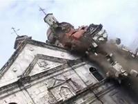 Philippines Quake Collapse Caught on Tape
