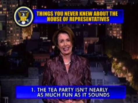 Pelosi Takes Shot At Tea Party In Letterman's 'Top 10' List