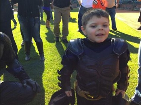 Batkid Saves Giants Mascot from Penguin