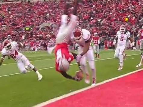 Ohio State QB Miller Lands on His Head After Scoring TD