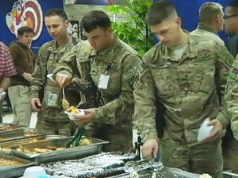 U.S. Troops in Afghanistan Enjoy Thanksgiving