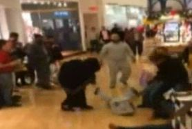Women Rolling On The Mall Floor In Black Friday Stun Gun Fight