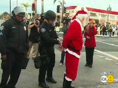 Santa Arrested At Walmart Protest
