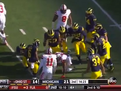 Ohio State, Michigan Players Brawl During Rivalry Game