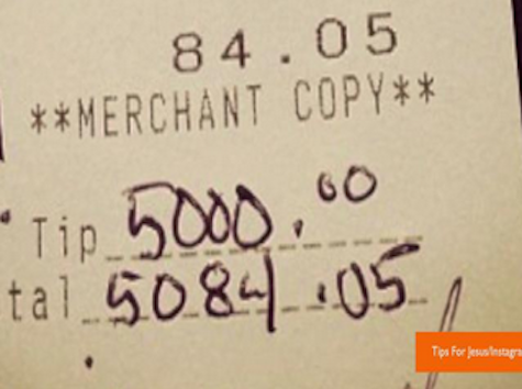 Mystery Restaurant Patron Leaving Thousands In Tips