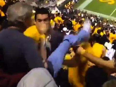 Arizona State Fan Kicked In Face