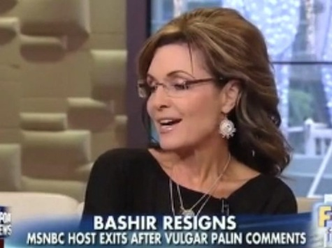 Sarah Palin Responds To Bashir Resignation