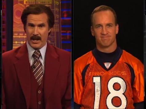 Ron Burgundy Meets Peyton Manning in Hilarious Interview