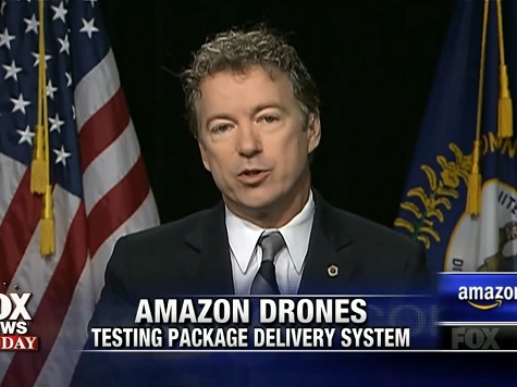 Rand Paul on Amazon Drones: Rules Should Be Added to Prevent Private Companies from Spying on People